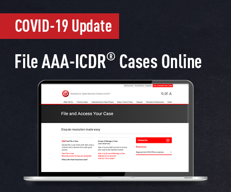 File AAA-ICDR Cases Online